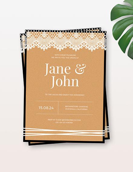 Sample Lace Wedding Invitation
