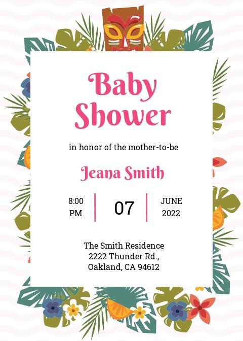 Luau Baby Shower Invitation Template.jpe