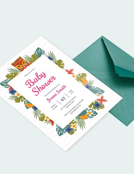 luau baby shower invitation Download
