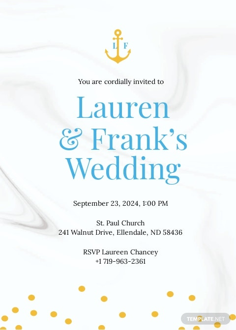 Nautical Wedding Invitation Template.jpe