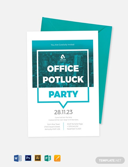 Office Potluck Invitation Template