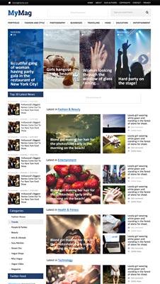 Free Magazine Style PSD Website Template