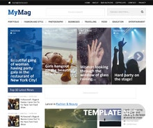 Free Magazine Style PSD Website Template