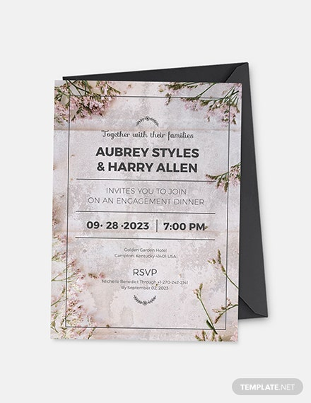 Rustic Engagement Party Invitation Download