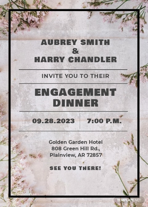 Rustic Engagement Party Invitation Template