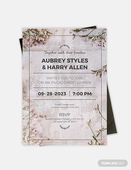 Sample Rustic Engagement Party Invitation
