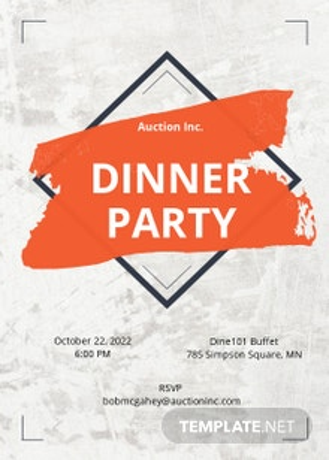 Rustic Party Invitation Template