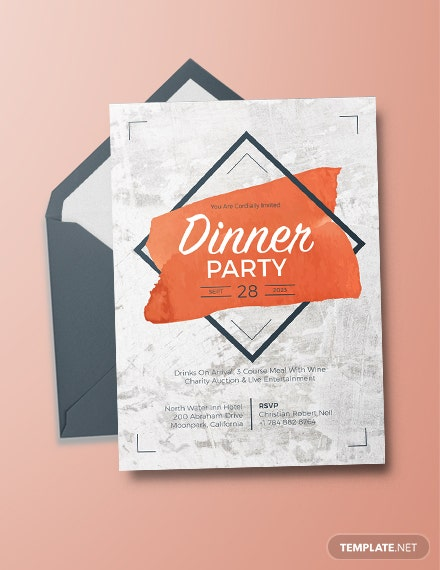 rustic party invitation