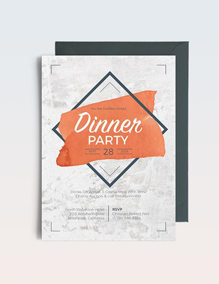Sample Rustic Party Invitation