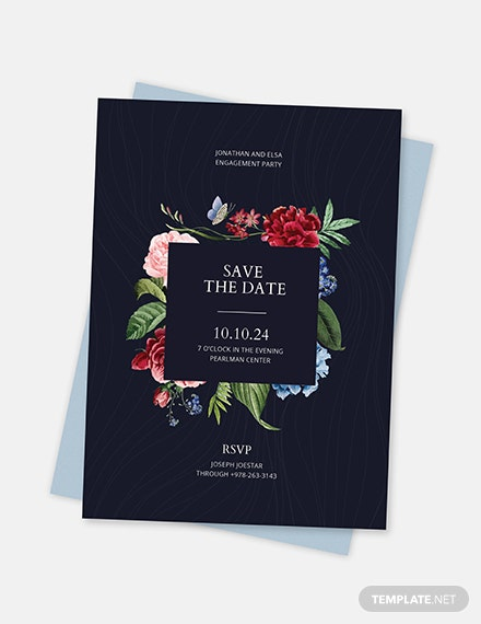 Sample Save the Date Party Invitation