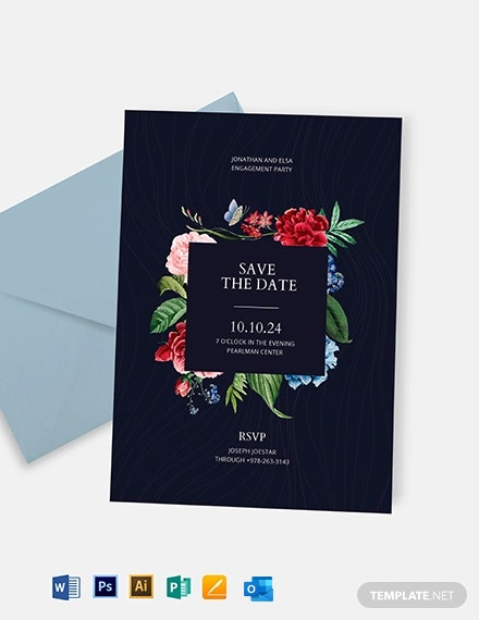 Save the Date Party Invitation Template