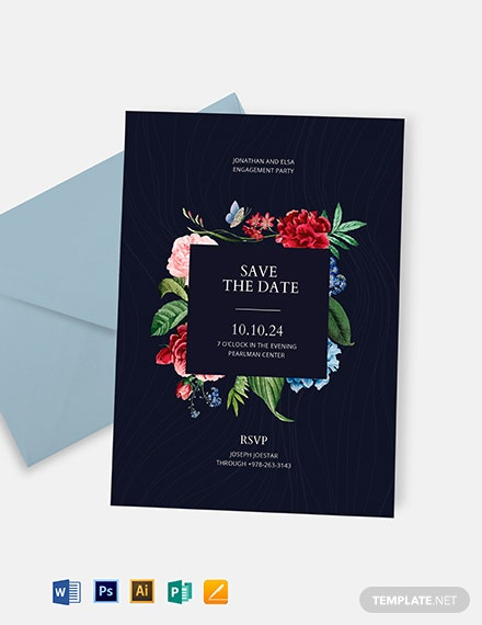 save the date party invitation template 1