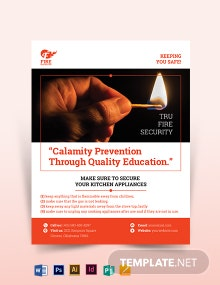 Sample Fire Safety Flyer Template