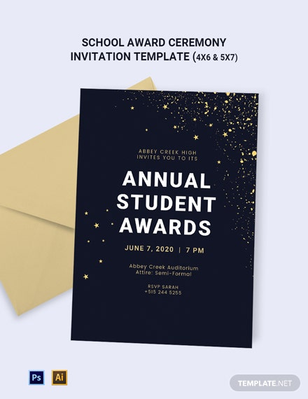School Award Ceremony Invitation Template