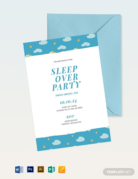 sleepover invitation template 1