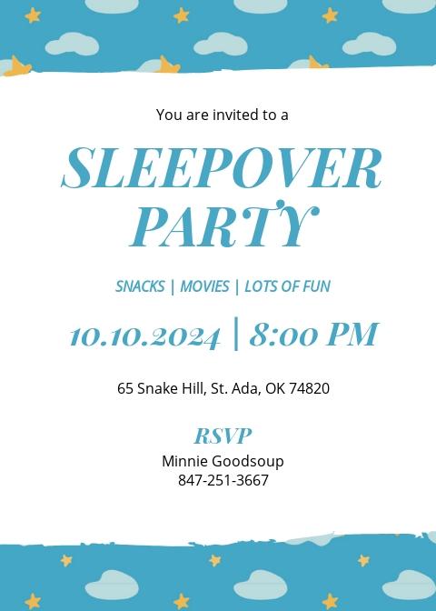 Sleepover Invitation Template.jpe