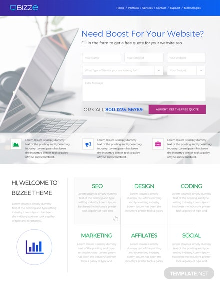 Free Service Company Website Template