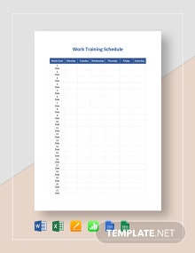 Work Training Schedule Template