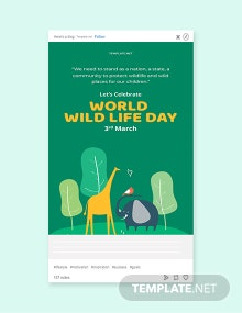 Free World Wild Life Day Tumblr Post Template