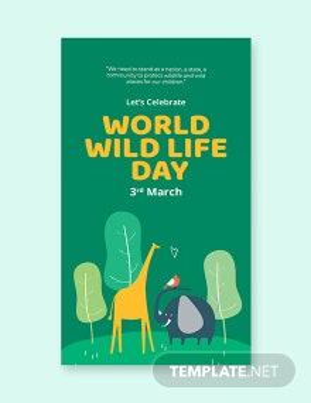 Free World Wild Life Day Whatsapp Image Template