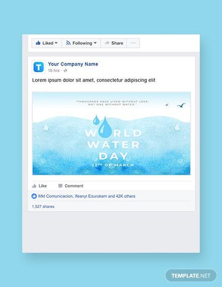 World Water Day Facebook Post