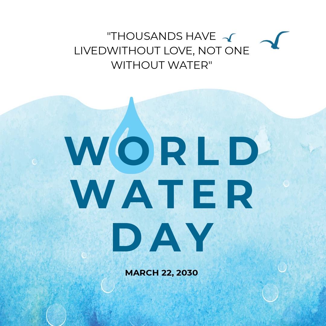 World Water Day Instagram Post