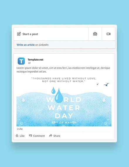 World Water Day Linkedin Post