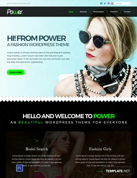 Free Fashion Photo Studio PSD Website Template