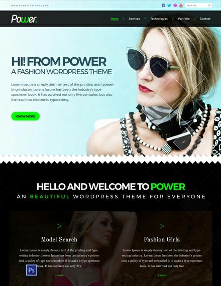 Fashion Photo Studio PSD Website Template
