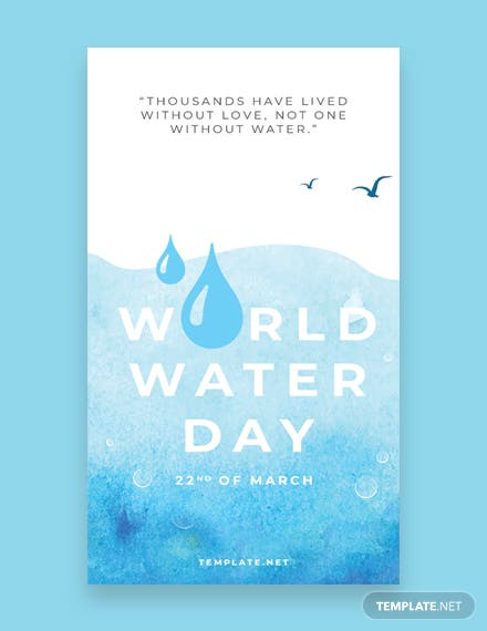 World Water Day Whatsapp Image Template