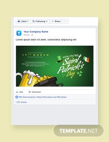 Saint Patrick's Day Facebook Post