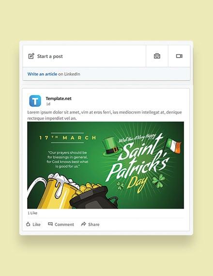 Saint Patrick's Day Linkedin Post