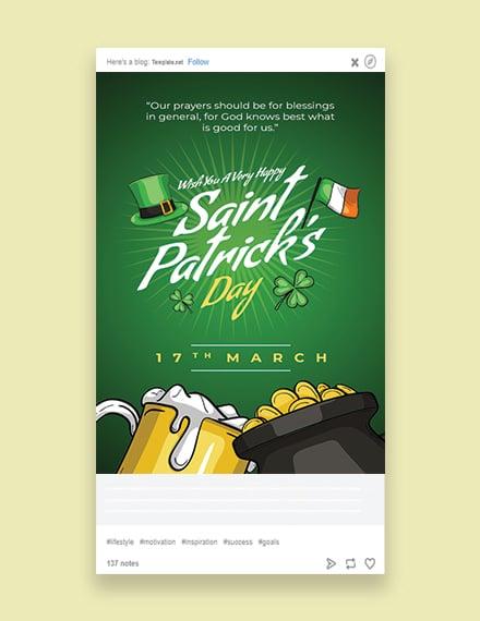 Saint Patrick's Day Tumblr Post