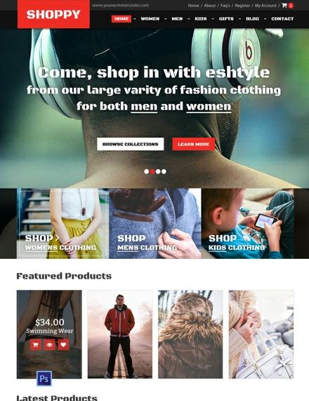 Fashion Boutique PSD Website Template
