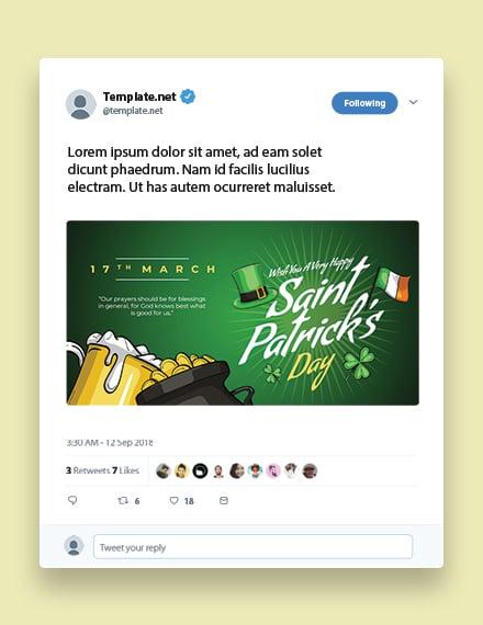 Saint Patrick's Day Twitter Post