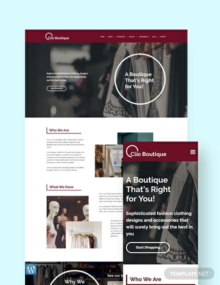 Boutique WordPress Theme/Template