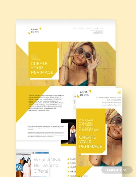 Fashion Designer WordPress Theme/Template