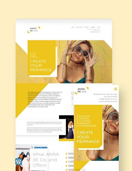 Fashion Designer WordPress Theme/Template