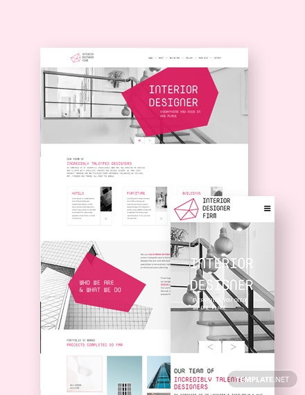 Interior Designer Landing Page WordPress Theme