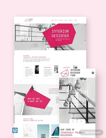 Interior Designer WordPress Theme/Template