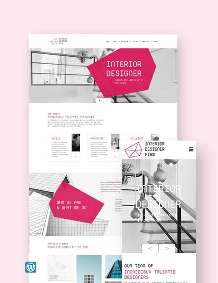 Interior Designer WordPress Theme/Template
