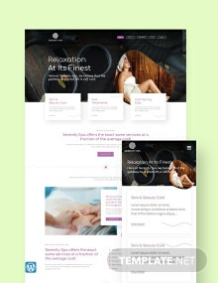 Spa WordPress Theme/Template