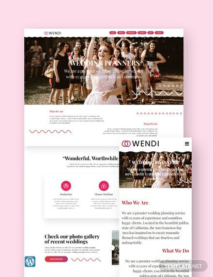 Wedding Landing Page WordPress Theme