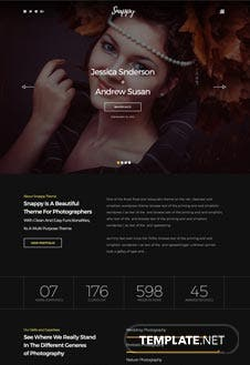 Free Snappy PSD Website Template