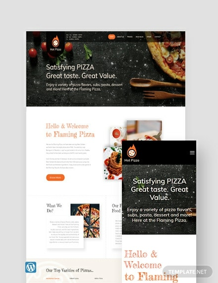 Pizza WordPress Theme/Template