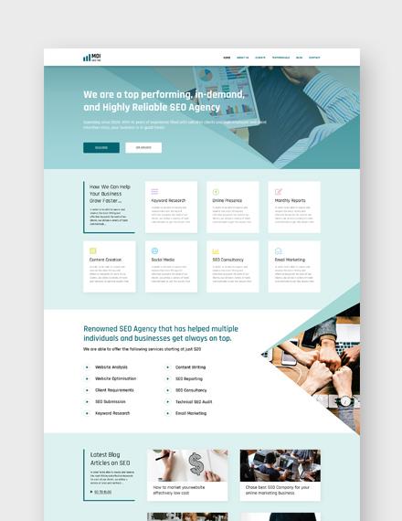 SEO Agency Landing Page WordPress Theme