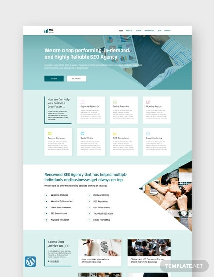SEO Agency WordPress Theme/Template