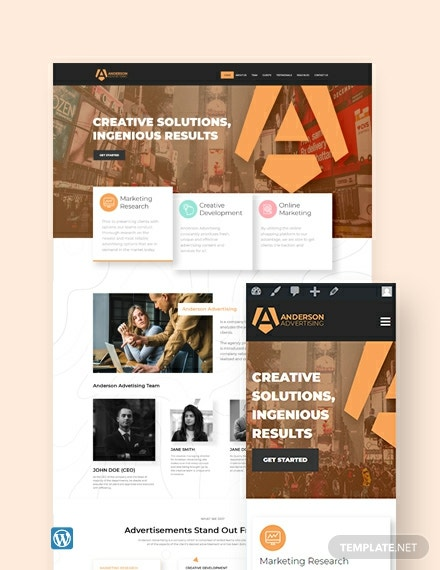 Advertising Agency WordPress Theme/Template