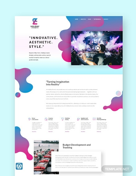 Event Planner WordPress Theme/Template