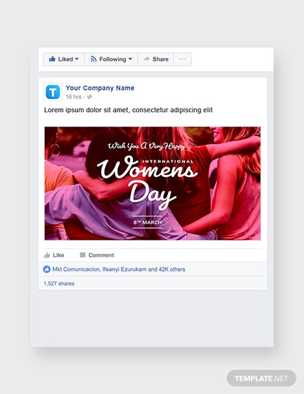 International Women's Day Facebook Post